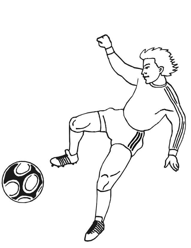 Coloriage et dessins gratuits Joueur Soccer en couleur à imprimer
