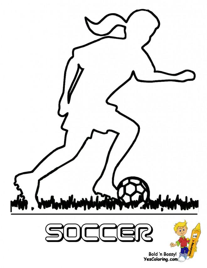 Coloriage et dessins gratuits Joueur Soccer en ligne à imprimer