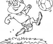 Coloriage et dessins gratuit Joueur Soccer humoristique à imprimer