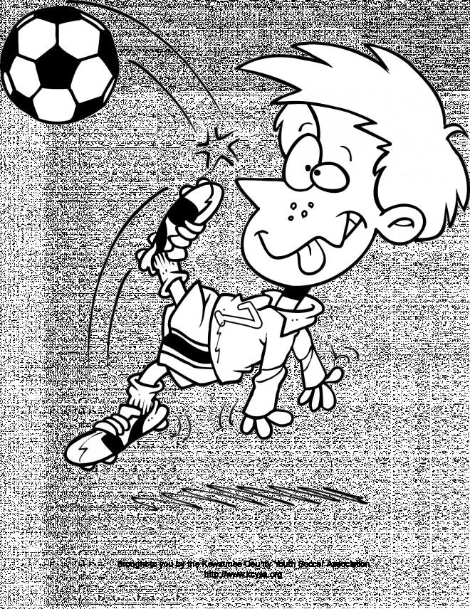 Coloriage et dessins gratuits Joueur Soccer qui fait rire à imprimer