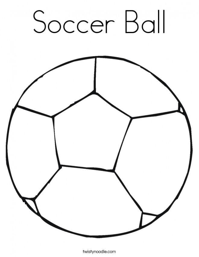 Coloriage et dessins gratuits Le Ballon Soccer à imprimer