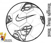 Coloriage et dessins gratuit Marque de Ballon Soccer à imprimer