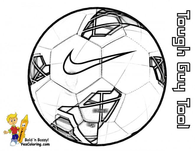 Coloriage et dessins gratuits Marque de Ballon Soccer à imprimer