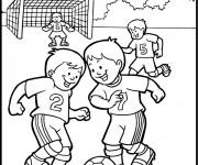 Coloriage et dessins gratuit Match de Soccer à imprimer