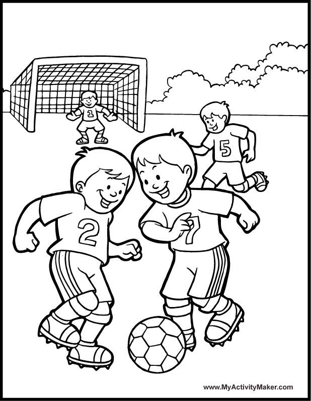 Coloriage et dessins gratuits Match de Soccer à imprimer