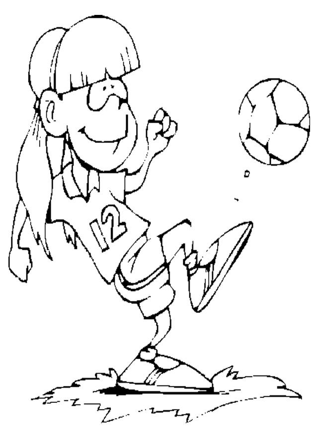 Coloriage et dessins gratuits Petit joueur de Soccer heureuse à imprimer