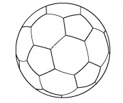 Coloriage Soccer ballon simple