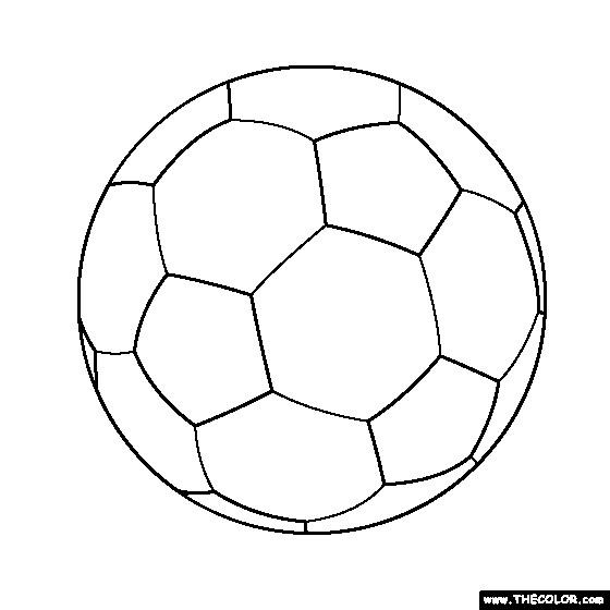 Coloriage et dessins gratuits Soccer ballon simple à imprimer