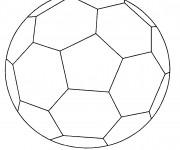 Coloriage et dessins gratuit Soccer Ballon simplifié à imprimer