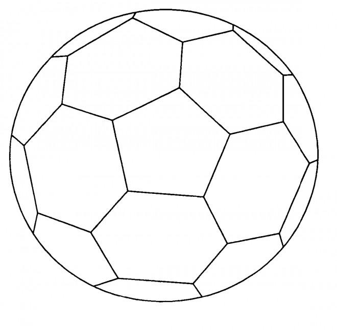 Coloriage et dessins gratuits Soccer Ballon simplifié à imprimer
