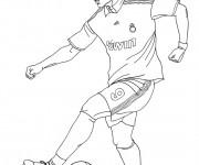 Coloriage Soccer Cristiano Ronaldo