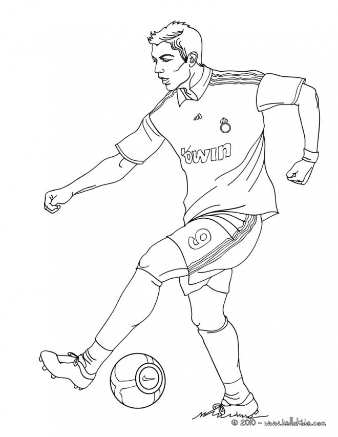 Coloriage et dessins gratuits Soccer Cristiano Ronaldo à imprimer