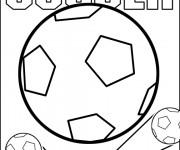 Coloriage et dessins gratuit Soccer et Ballon à imprimer