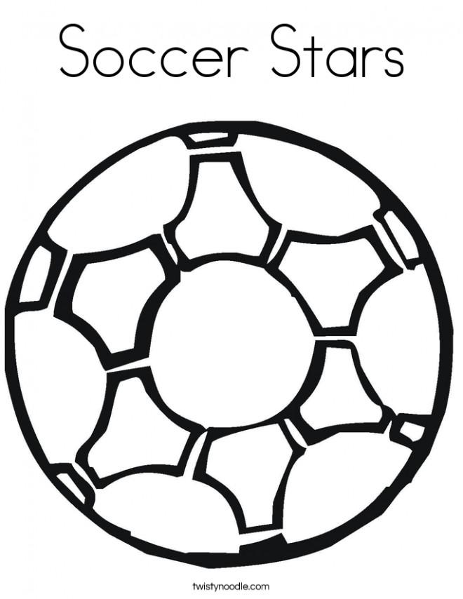Coloriage et dessins gratuits Soccer Étoiles à imprimer