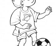 Coloriage et dessins gratuit Soccer facile à imprimer