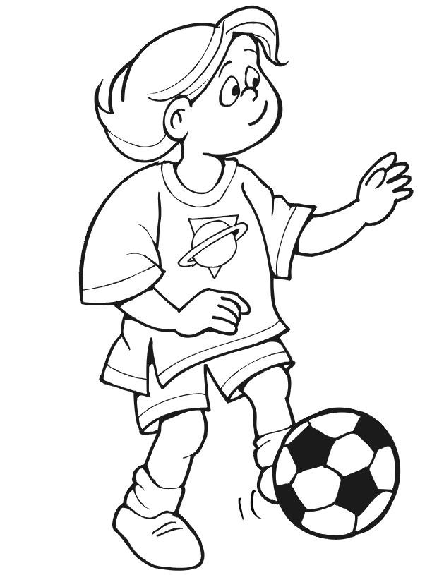 Coloriage et dessins gratuits Soccer facile à imprimer