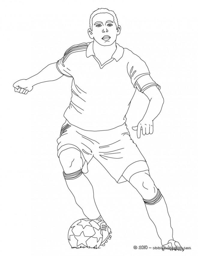 Coloriage et dessins gratuits Soccer joueur à télécharger à imprimer