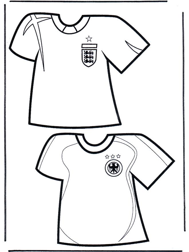Coloriage et dessins gratuits Soccer T-shirt à imprimer