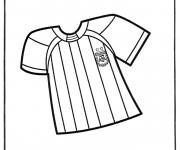 Coloriage Soccer T Shirt d'Argentine