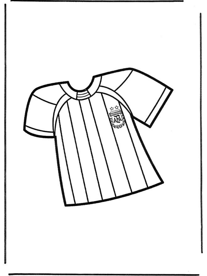 Coloriage et dessins gratuits Soccer T Shirt d'Argentine à imprimer