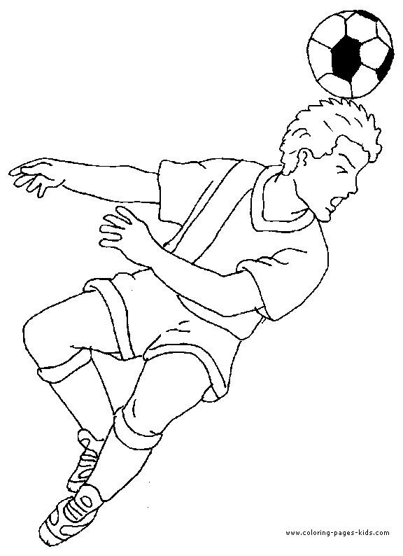 Coloriage et dessins gratuits Soccer Tire de tête à imprimer