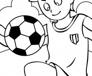 Coloriage Sport soccer