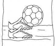 Coloriage Thème Soccer