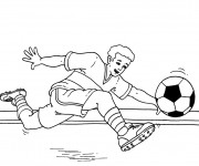 Coloriage Tire de Ballon Soccer