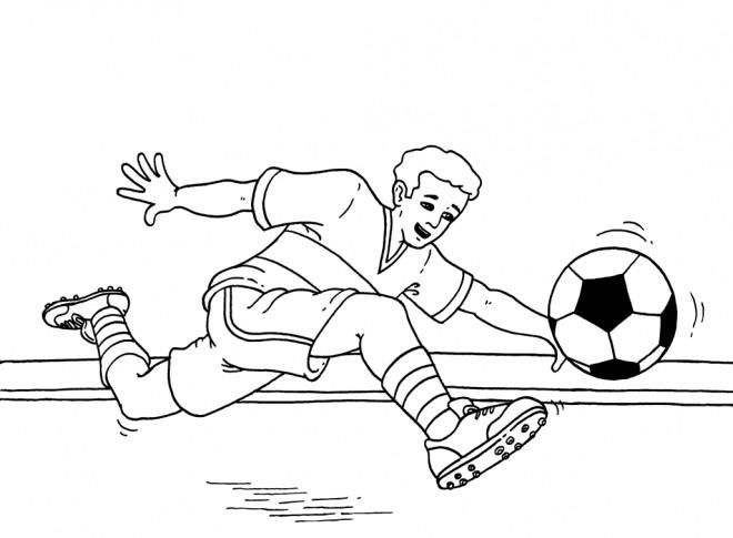 Coloriage et dessins gratuits Tire de Ballon Soccer à imprimer