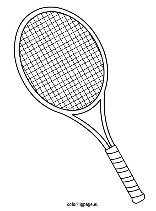 Coloriage badminton raquette noire dessin gratuit imprimer - Dessin raquette ...