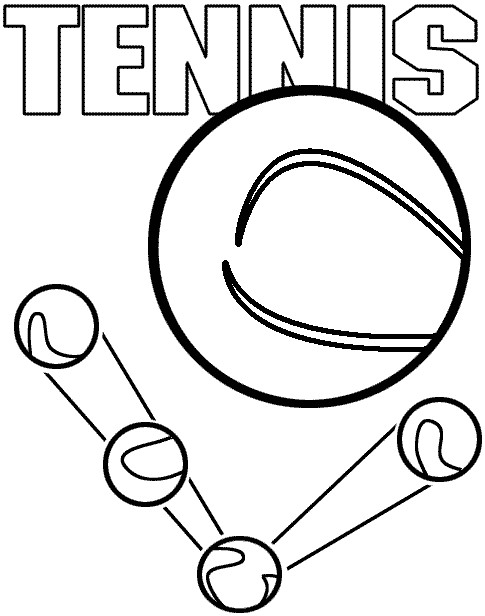 Coloriage et dessins gratuits Balle de Tennis stylisée à imprimer