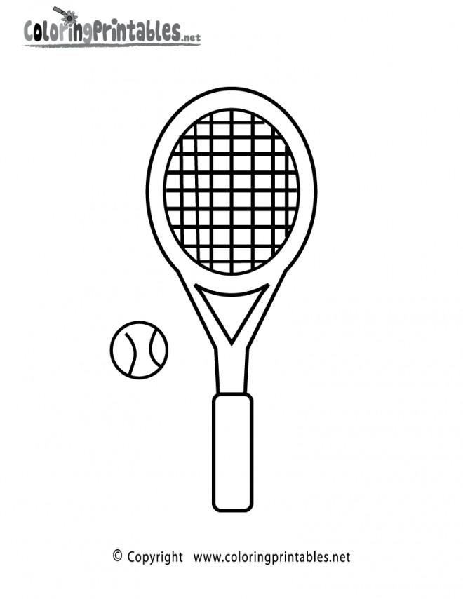Coloriage et dessins gratuits Équipements de Tennis maternelle à imprimer
