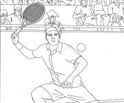 Coloriage et dessins gratuit Federer Joueur de Tennis à imprimer