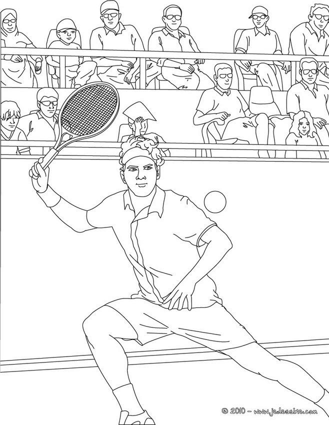 Coloriage et dessins gratuits Federer Joueur de Tennis à imprimer