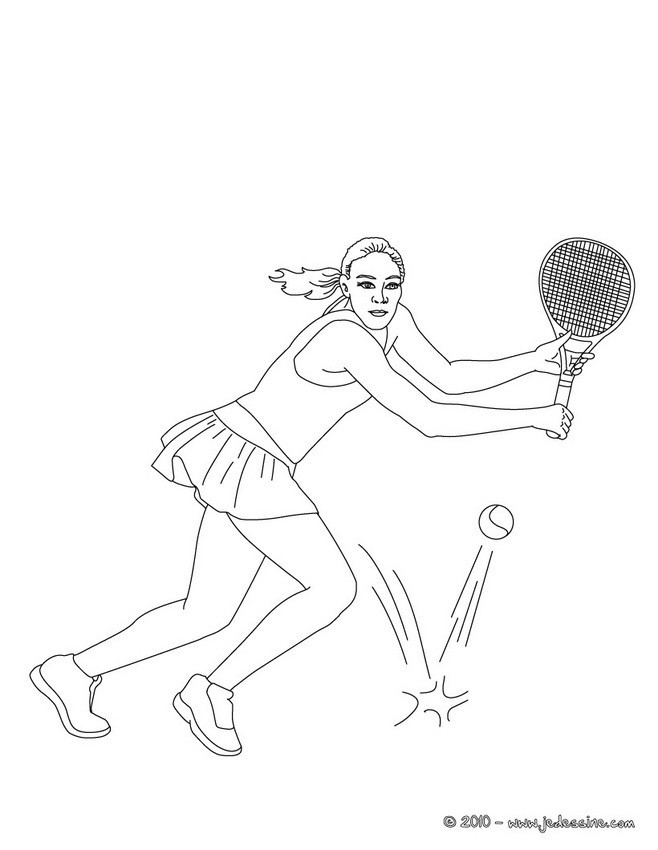 Coloriage et dessins gratuits Fille joueur Professionnel de Tennis à imprimer