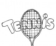 Coloriage Illustration Tennis