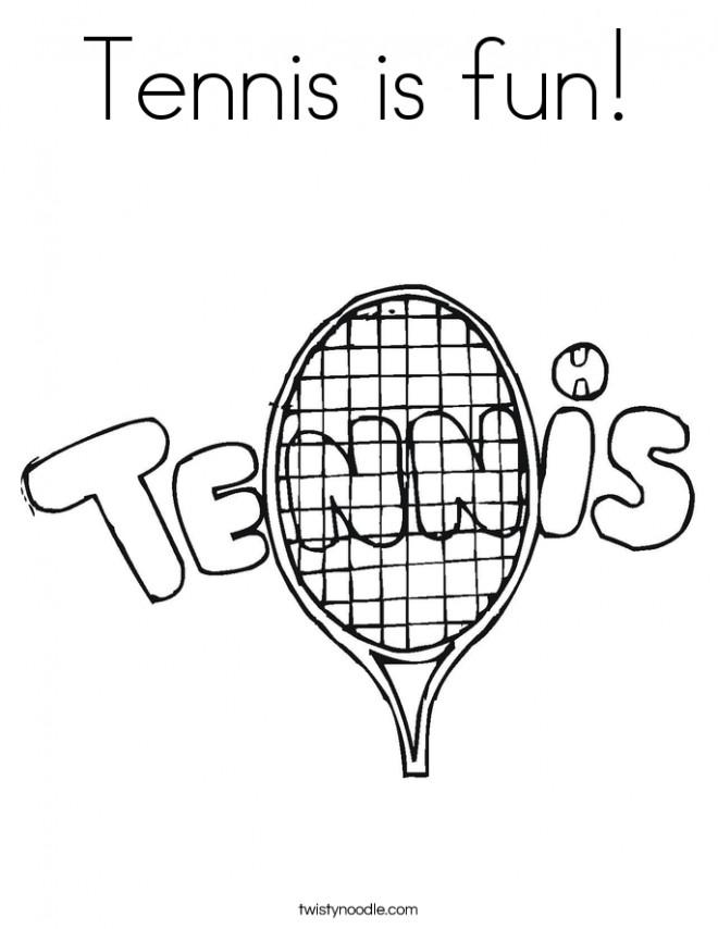 Coloriage et dessins gratuits Illustration Tennis à imprimer