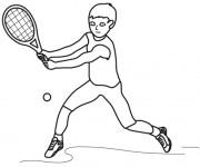 Coloriage et dessins gratuit Joueur de Tennis à imprimer