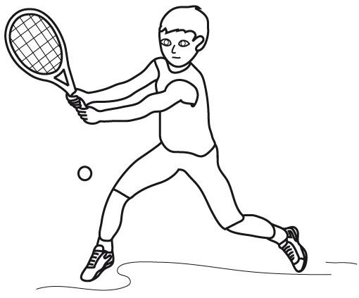 Coloriage et dessins gratuits Joueur de Tennis à imprimer