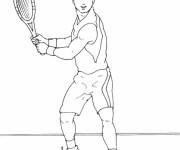 Coloriage et dessins gratuit Joueur de Tennis au Crayon à imprimer