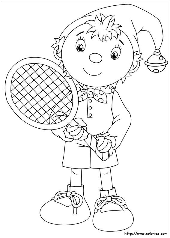 Coloriage et dessins gratuits Joueur de Tennis dessin animé à imprimer