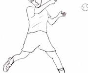 Coloriage et dessins gratuit Joueur de Tennis facile à imprimer