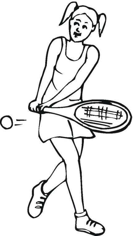 Coloriage et dessins gratuits Joueur de Tennis Féminin à imprimer