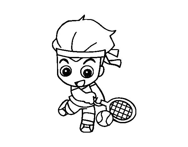 Coloriage et dessins gratuits Joueur de Tennis miniature à imprimer