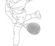 Coloriage et dessins gratuit Joueur de Tennis Professionnel à imprimer