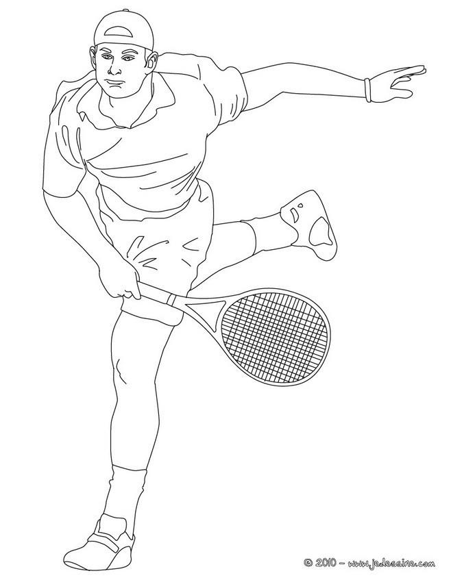 Coloriage et dessins gratuits Joueur de Tennis Professionnel à imprimer