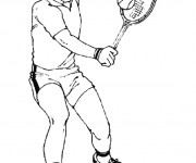 Coloriage Le Backhand de Tennis