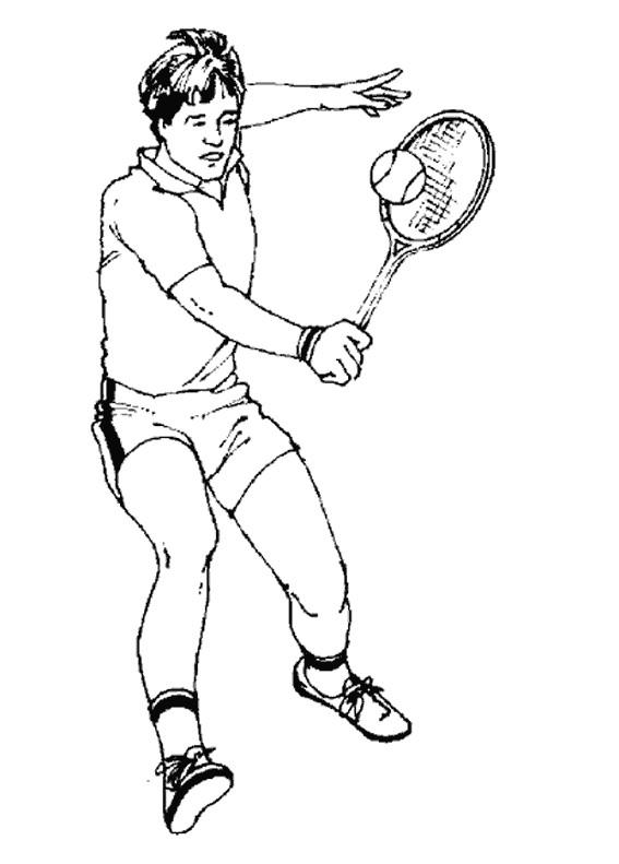Coloriage et dessins gratuits Le Backhand de Tennis à imprimer