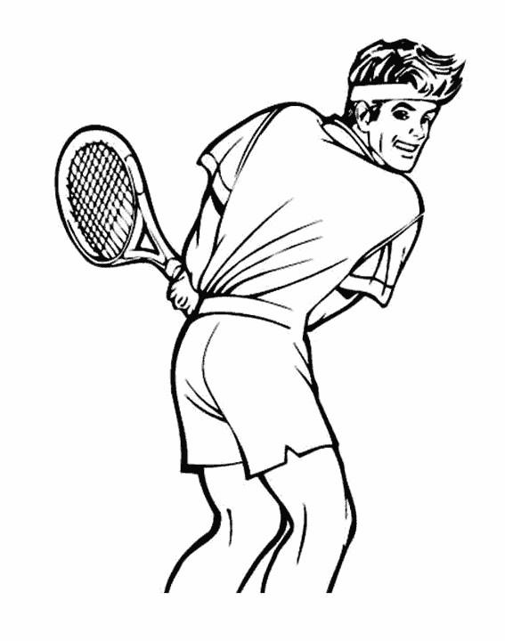 Coloriage et dessins gratuits Le Forehand de Tennis à imprimer
