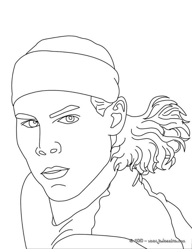 Coloriage et dessins gratuits Nadal Joueur de Tennis à imprimer